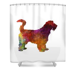 Grand Griffon Vendeen In Watercolor Shower Curtain by Pablo Romero