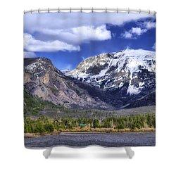 Grand Lake Co Shower Curtain by Joan Carroll