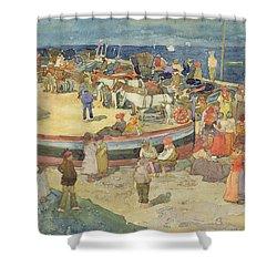 Grande Marina  Capri Shower Curtain by Maurice Brazil Prendergast