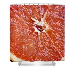 Grapefruit Half Shower Curtain by Ray Laskowitz - Printscapes