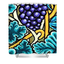 Grapes Shower Curtain by Genevieve Esson