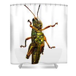 Grasshopper II Shower Curtain by Gary Adkins
