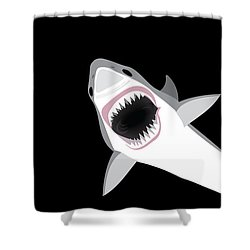 Great White Shark Shower Curtain by Antique Images