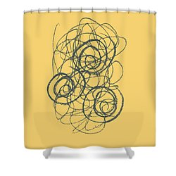 Green And Gold 2 Shower Curtain by Julie Niemela