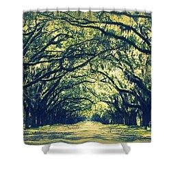 Green World Shower Curtain by Carol Groenen