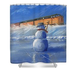 Greetings Shower Curtain by Christopher Jenkins
