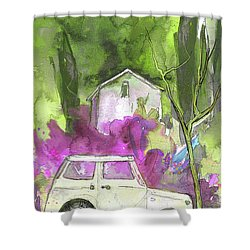 Greve In Chianti In Italy 02 Shower Curtain by Miki De Goodaboom