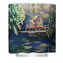 Grist Mill 2 Shower Curtain by Marlene Book