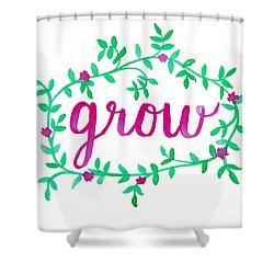 Grow Shower Curtain by Michelle Eshleman