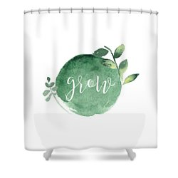 Grow Shower Curtain by Nancy Ingersoll