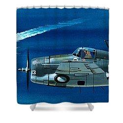 Grumman F4rf-3 Wildcat Shower Curtain by Wilf Hardy