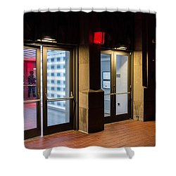 Shower Curtain featuring the photograph Guarding The Door by M G Whittingham