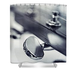 guitar I Shower Curtain by Priska Wettstein