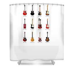 Guitar Icons No1 Shower Curtain by Mark Rogan