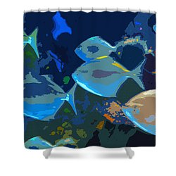Gulf Stream Shower Curtain by David Lee Thompson
