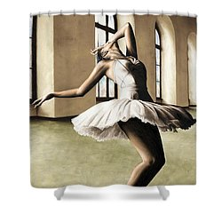 Halcyon Ballerina Shower Curtain by Richard Young