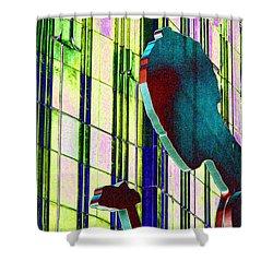 Hammering Man 3 Shower Curtain by Tim Allen