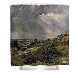 Hampstead Heath Shower Curtain by John Constable