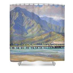 Hanalei Pier Shower Curtain by Jenifer Prince