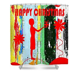 Happy Christmas 14 Shower Curtain by Patrick J Murphy