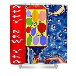 Happy New Year 47 Shower Curtain by Patrick J Murphy