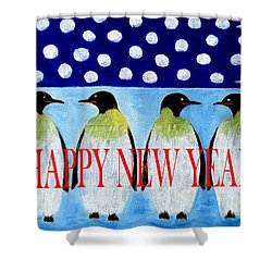 Happy New Year 5 Shower Curtain by Patrick J Murphy