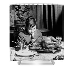 Happy Thanksgiving Shower Curtain by American School