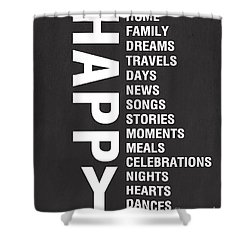 Happy Things Shower Curtain by Linda Woods
