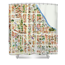Harlem From 110-155th Streets Shower Curtain by Afinelyne