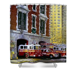 Harlem Hilton Shower Curtain by Paul Walsh