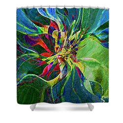 Harlequin Poinsettia Shower Curtain by RC DeWinter
