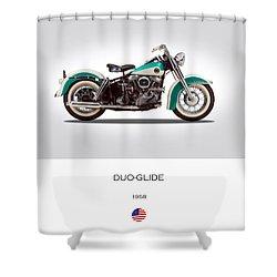 Harley-davidson Duo-glide Shower Curtain by Mark Rogan
