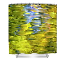 Harvest Gold Mosaic Shower Curtain by Christina Rollo