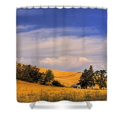 Harvested Shower Curtain by David Patterson