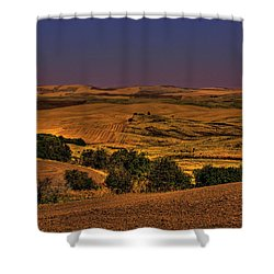 Harvested Fields Shower Curtain by David Patterson