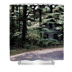 Haunted Shower Curtain by Lauren Radke