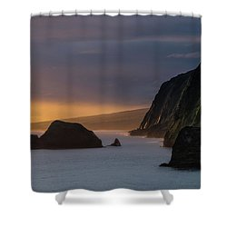 Hawaii Sunrise At The Pololu Valley Lookout Shower Curtain by Larry Marshall