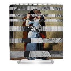 Hayes's The Kiss And Vivien Leigh With Clark Gable Shower Curtain by Luigi Tarini