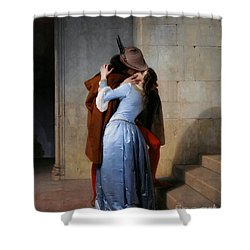 Hayez: The Kiss Shower Curtain by Granger