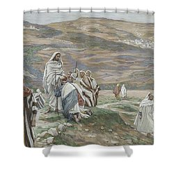 He Sent Them Out Two By Two Shower Curtain by Tissot