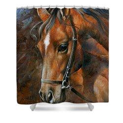 Head Horse Shower Curtain by Arthur Braginsky