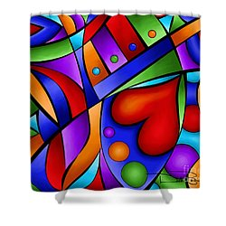 Heart And Soul Shower Curtain by Debi Payne