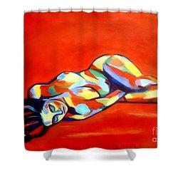 Heat Shower Curtain by Helena Wierzbicki