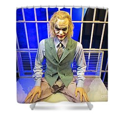 Heath Ledger As The Joker Shower Curtain by John Malone