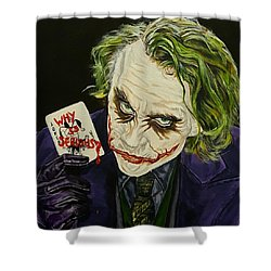 Heath Ledger The Joker Shower Curtain by David Peninger