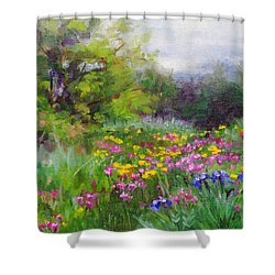 Heaven Can Wait Shower Curtain by Talya Johnson