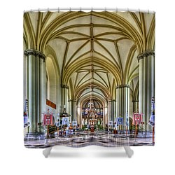 Heavenly Shower Curtain by Evelina Kremsdorf