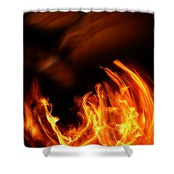 Heavenly Flame Shower Curtain by Donna Blackhall