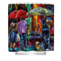 Heavy Rain Shower Curtain by Debra Hurd