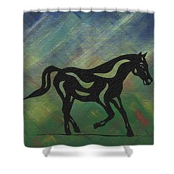 Heinrich - Abstract Horse Shower Curtain by Manuel Sueess